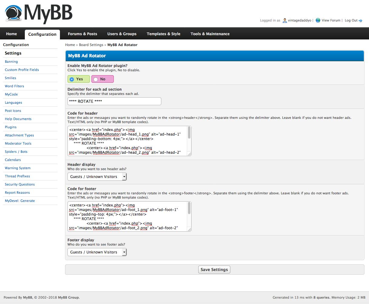 Extend MyBB - MyBB Ad Rotator